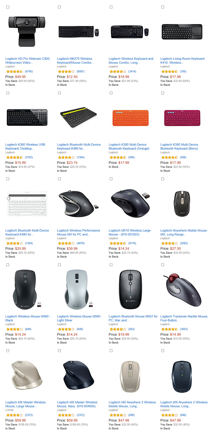 Amazon Up To 40 Off Logitech Or