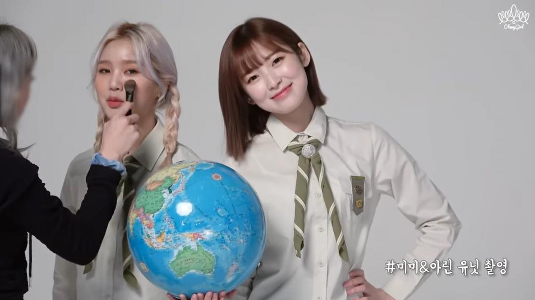 오마이걸 스카우트 화보 촬영 비하인드 영상 (단발린)